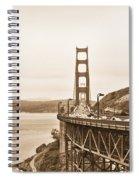 Golden Gate Bridge In Sepia Spiral Notebook