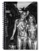 Golden Girls Of Bourbon Street - Black And White Spiral Notebook
