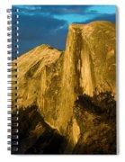 Golden Half Dome Spiral Notebook