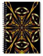 Golden Kaleidoscope Spiral Notebook