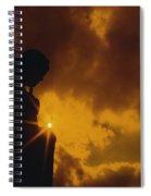 Golden Light Silhouette Spiral Notebook