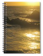 Golden Maui Sunset Spiral Notebook