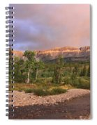 Golden Montana Mountain Spiral Notebook