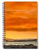 Golden Morning Over Humboldt Bay Spiral Notebook