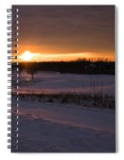 Golden Orange Winter Sunset Over The Golf Spiral Notebook