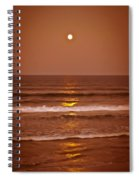 Golden Pathway To The Shore Spiral Notebook