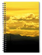 Golden Skies Spiral Notebook