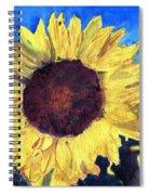 Golden Sunflower Spiral Notebook