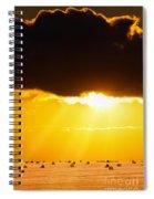 Golden Sunset On Farmland Spiral Notebook