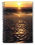Golden Sunset On The Sand Beach Spiral Notebook
