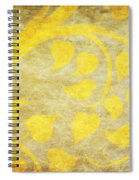 Golden Tree Pattern On Paper Spiral Notebook