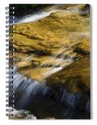 Golden Waterfall Glacier National Park Spiral Notebook