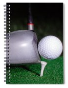 Golf Club Hitting Ball Spiral Notebook