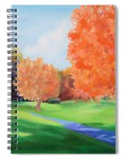 Golf Course In The Fall 1 Spiral Notebook