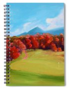Golf Course In The Fall 2 Spiral Notebook