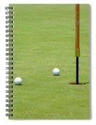 Golf Pin Spiral Notebook