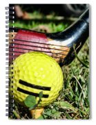 Golf - Tee Time With A 3 Iron Spiral Notebook