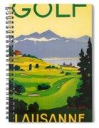 Golfing In Lausanne Spiral Notebook