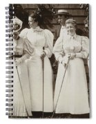 Golfing Party, C1895 Spiral Notebook