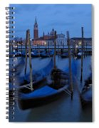 Gondolas At Dusk In Venice Spiral Notebook