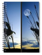 Goose At Dusk - Cross Your Eyes And Focus On The Middle Image Spiral Notebook