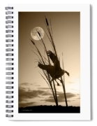 Goose At Dusk - Sepia Spiral Notebook