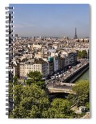 Gorgyle View Of Paris Spiral Notebook