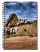 Goscar Rock Tenby 4 Painted Spiral Notebook