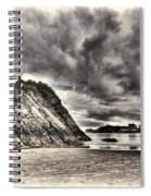 Goscar Rock Tenby Cream Spiral Notebook