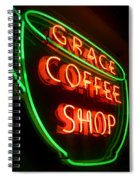 Grace Coffee Shop Neon Spiral Notebook