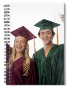Graduation Couple V Spiral Notebook