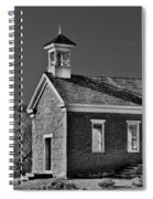 Grafton Schoolhouse - Bw Spiral Notebook