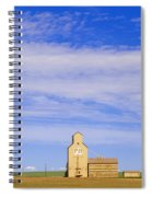 Grain Elevators, Mossleigh, Alberta Spiral Notebook