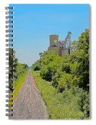 Grain Processing Facility In Shirley Illinois 4 Spiral Notebook