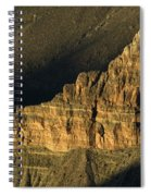 Grand Canyon Bathed In Light Spiral Notebook