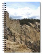 Grand Canyon Cliff In Yellowstone Spiral Notebook