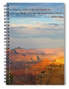 Grand Canyon Splendor - With Quote Spiral Notebook