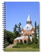 Grand Chapel In Central Cemetery Szczecin Poland Spiral Notebook
