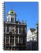 Grand Place Buildings Spiral Notebook