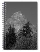 Grand Teton Bw Spiral Notebook