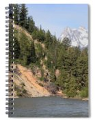 Grand Tetons From Snake River Spiral Notebook