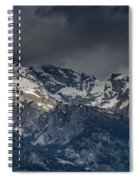 Grand Tetons Immersed In Clouds Spiral Notebook