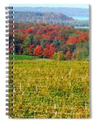 Grand Traverse Winery In Autumn Spiral Notebook