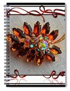 Grandmas Brooch With Digital Frame Spiral Notebook