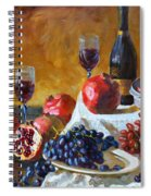 Grapes And Pomgranates Spiral Notebook