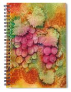 Grapes With Rust Background Spiral Notebook