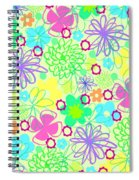 Graphic Flowers Spiral Notebook