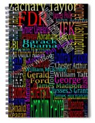 Graphic Presidents Spiral Notebook