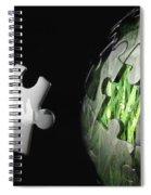 Grass Jigsaw Globe Spiral Notebook