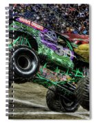 Grave Digger At Ford Field Detroit Mi Spiral Notebook